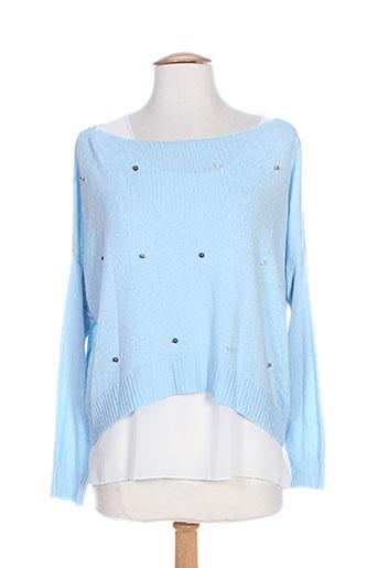 belle pulls femme de couleur bleu