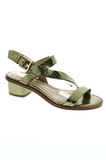 anaki chaussures femme de couleur vert