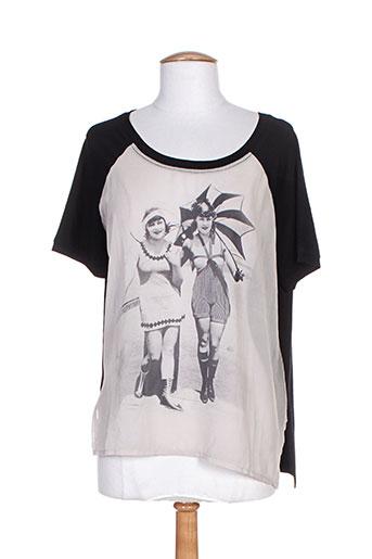 marcel et cendrillon t-shirts femme de couleur noir