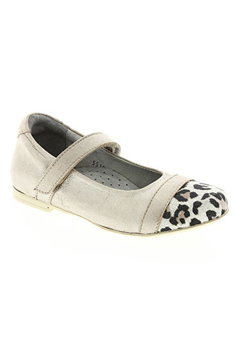 knepp chaussures fille de couleur beige