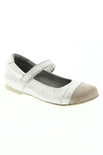 knepp chaussures fille de couleur gris