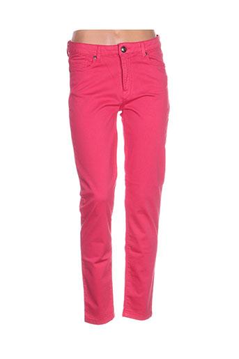 mensi collezioni pantalons femme de couleur rose
