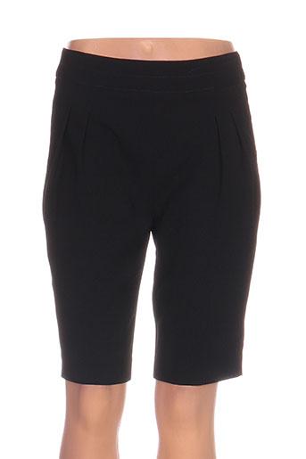nathalie chaize shorts / bermudas femme de couleur noir