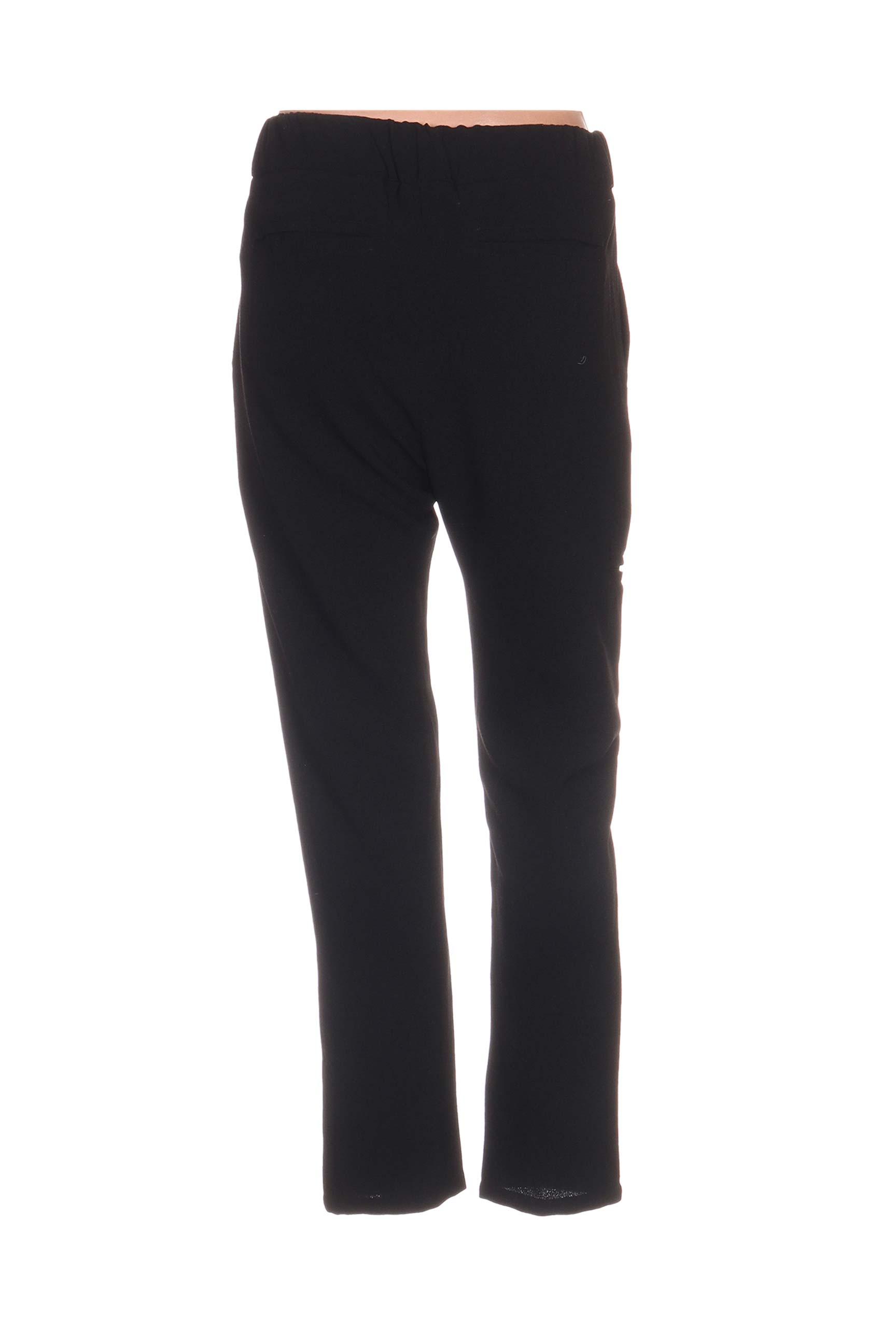Nue 1904 Pantalons Decontractes Femme De Couleur Noir En Soldes Pas Cher 1104738-noir00