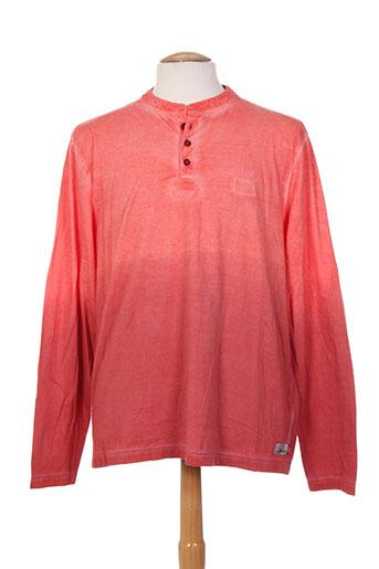 T-shirt manches longues rouge MONTE CARLO pour homme