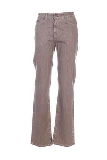 trussardi jeans jeans homme de couleur marron