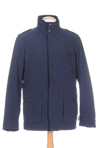 gant manteaux homme de couleur bleu