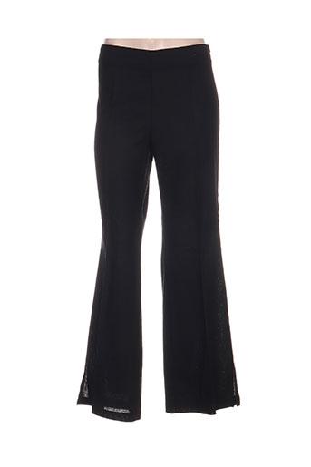 paolina pantalons femme de couleur noir
