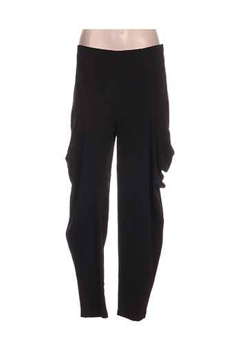 kokomarina pantalons femme de couleur noir