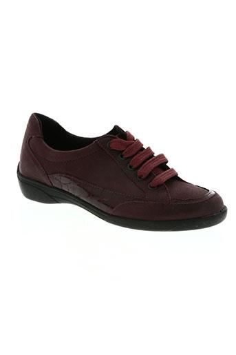 altex chaussures femme de couleur rouge
