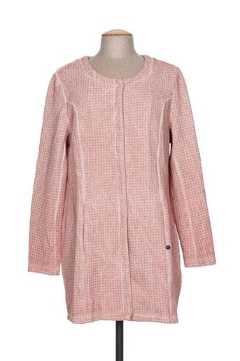 garcia manteaux femme de couleur rose
