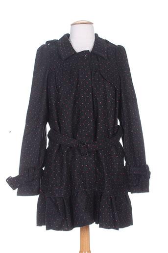 zoe la fee manteaux femme de couleur noir