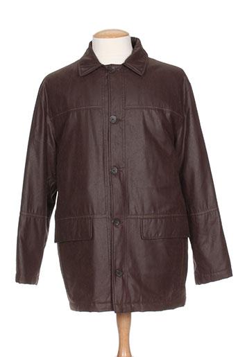 chevy manteaux homme de couleur marron