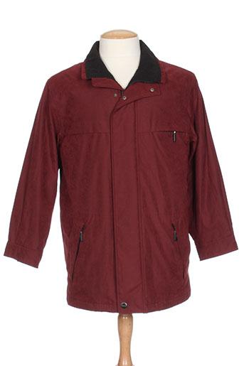 bush manteaux homme de couleur rouge