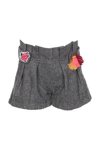 billieblush shorts / bermudas fille de couleur gris