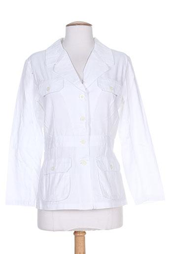 point de suspension vestes femme de couleur blanc