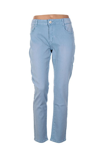 kiss pink pantalons femme de couleur bleu
