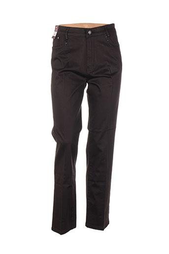 conos pantalons femme de couleur marron