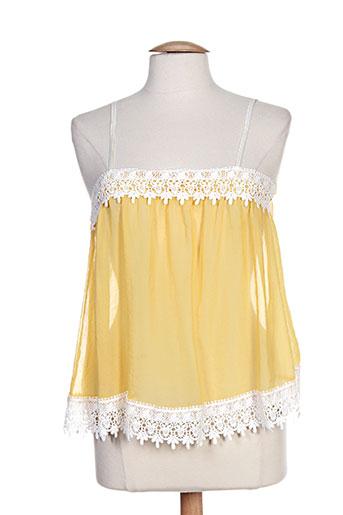 pois chemises femme de couleur jaune