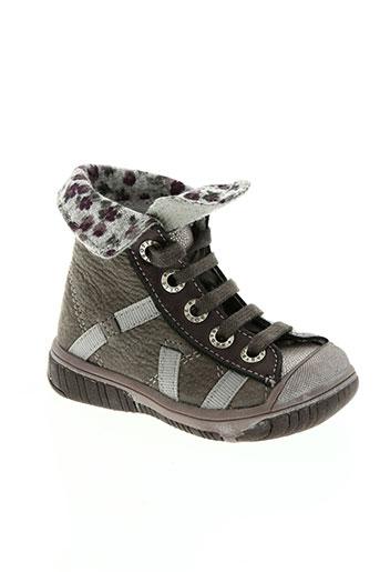 babybotte chaussures fille de couleur gris