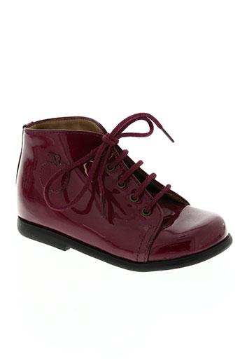 pom d'api chaussures fille de couleur rouge