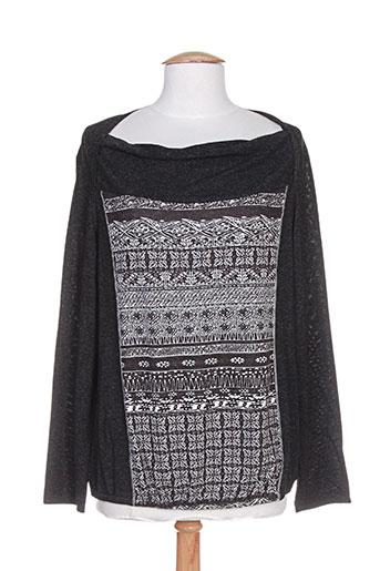 sarah luna chemises femme de couleur gris