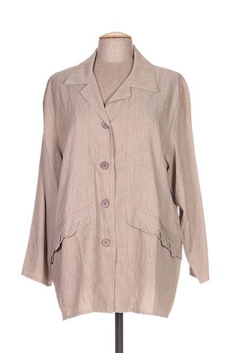 niederberger vestes femme de couleur beige