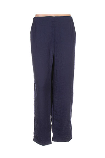niederberger pantalons femme de couleur bleu