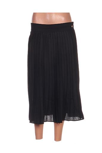 Jupe mi-longue noir GSUS pour femme