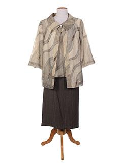 Veste/jupe beige ATIAN pour femme
