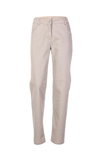 brandtex pantalons femme de couleur beige