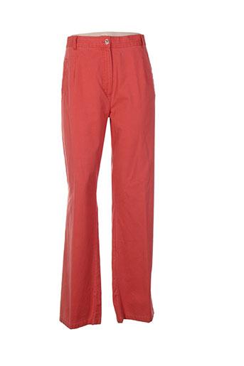 bleu de sym pantalons femme de couleur orange