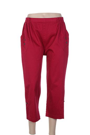 plurielles pantacourts femme de couleur rouge
