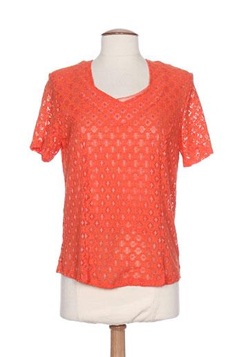 nayat t-shirts femme de couleur orange