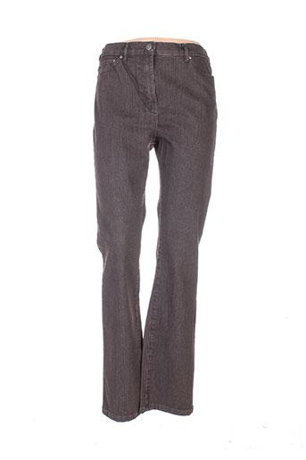 karting jeans femme de couleur marron