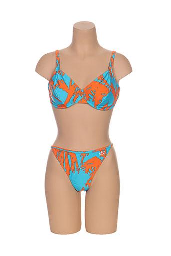 beach secret maillots de bain femme de couleur bleu