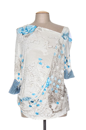 elisa cavaletti chemises femme de couleur bleu