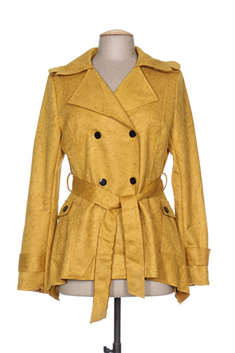 chic etjeune vestes femme de couleur jaune