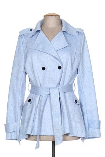 chic etjeune vestes femme de couleur bleu