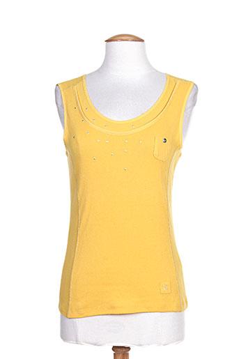 katmai t-shirts femme de couleur jaune