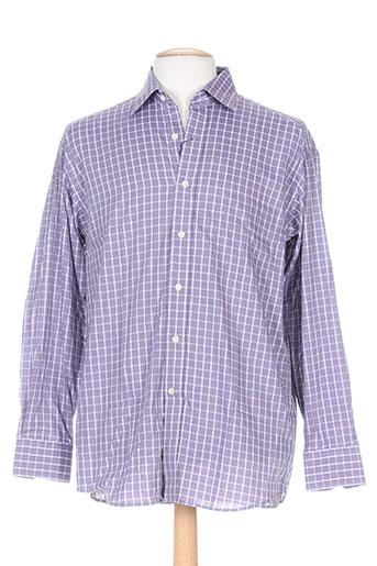 luc saint alban chemises homme de couleur violet