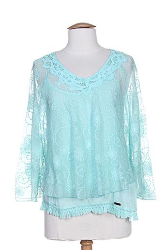 dakidaya chemises femme de couleur bleu