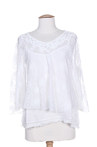 dakidaya chemises femme de couleur blanc