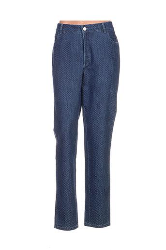 divuit jeans femme de couleur bleu