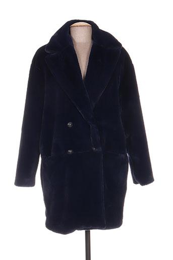 indies manteaux femme de couleur bleu