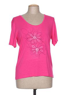 T-shirt manches courtes rose JEAN DELFIN pour femme
