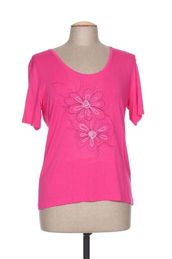 jean delfin t-shirts femme de couleur rose