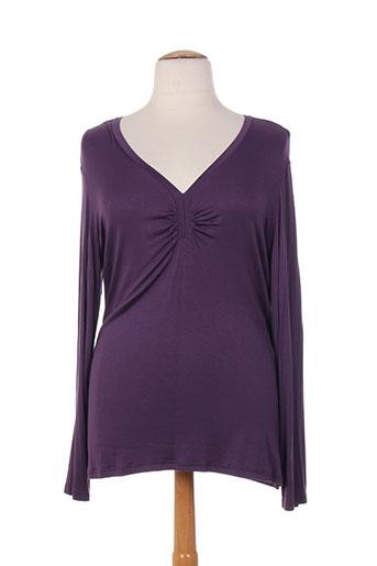 capuccina t-shirts femme de couleur violet