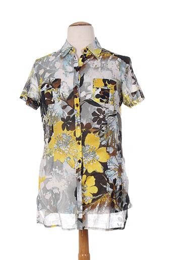 frank eden chemises femme de couleur gris