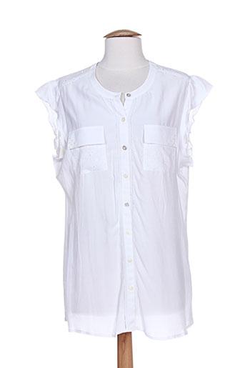 fer chemises femme de couleur blanc